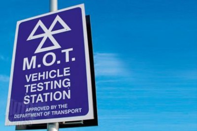 MOT vehicle testing station sign
