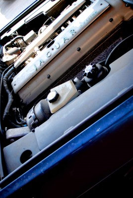 Close-up of car engine
