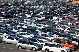 Parking lot of new cars