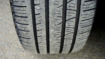Vehicle tyre close up