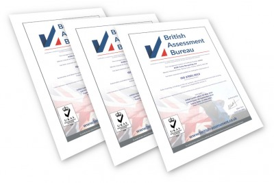 Composite of ASM Auto Recycling's ISO certificates