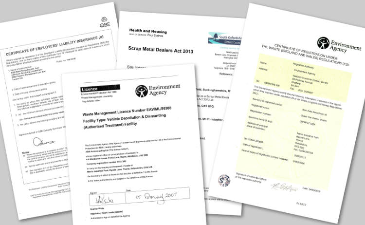 Montage of ASM's operating licences